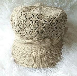 Ladies Tan knit hat